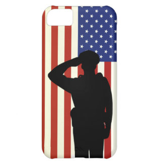 Officer Salutes American Flag Case For iPhone 5C
