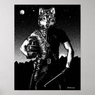 Officer Wolf by Portia St. Luke Poster