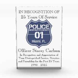 Officer Years Of Service Award - Recognition Award
