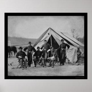 Officers in Gettysburg 1863 Print