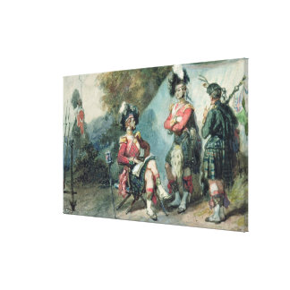 Officers of the 79th Highlanders Canvas Print