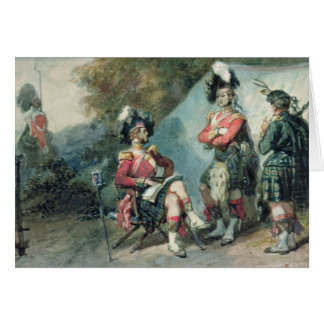Officers of the 79th Highlanders Greeting Card