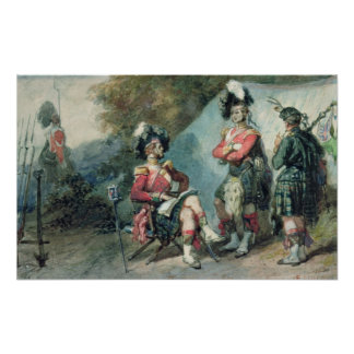 Officers of the 79th Highlanders Poster