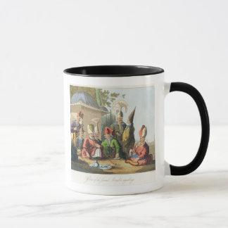Officers of the Grand Seraglio Regaling, engraved Mug