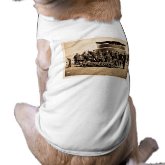 Officers on Deck of Ironclad Monitor Civil War Doggie Shirt