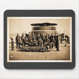 Officers on Deck of Ironclad Monitor Civil War Mouse Pad