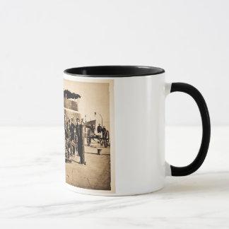 Officers on Deck of Ironclad Monitor Civil War Mug