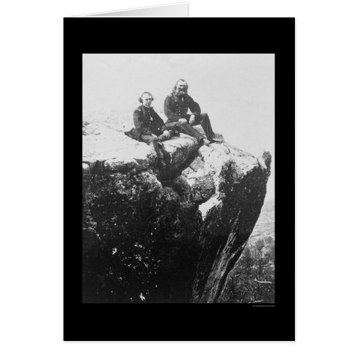 Officers Perched on Lookout Mountain, TN 1864 Greeting Cards
