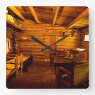 Officers Quarters Fort Clatsop - Lewis And Clark Square Wall Clock