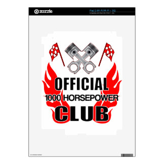 Official 1000 HP Club Decal For iPad 2