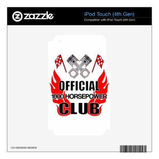 Official 1000 HP Club Decal For iPod Touch 4G