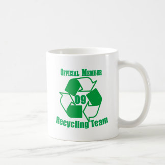 Official 2009 Recycling Team Coffee Mug