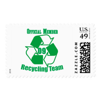 Official 2009 Recycling Team Postage