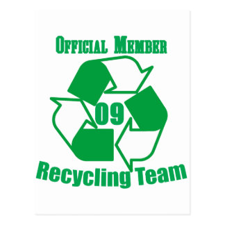 Official 2009 Recycling Team Postcard