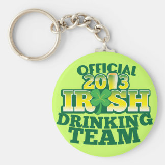 Official 2013 Irish DRINKING TEAM from The Beer Sh Basic Round Button Keychain