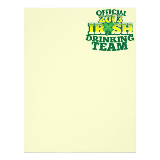 Official 2013 Irish DRINKING TEAM from The Beer Sh Letterhead