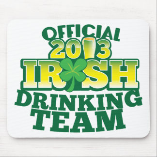Official 2013 Irish DRINKING TEAM from The Beer Sh Mouse Pad