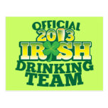 Official 2013 Irish DRINKING TEAM from The Beer Sh Post Cards