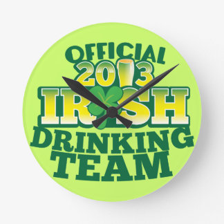 Official 2013 Irish DRINKING TEAM from The Beer Sh Round Clock