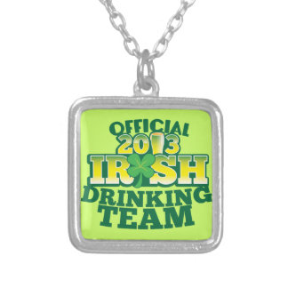 Official 2013 Irish DRINKING TEAM from The Beer Sh Silver Plated Necklace