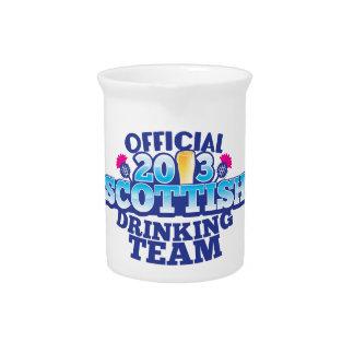 Official 2013 SCOTTISH DRINKING TEAM Beverage Pitcher