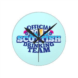 Official 2013 SCOTTISH DRINKING TEAM Round Clock