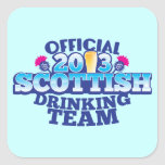 Official 2013 SCOTTISH DRINKING TEAM Square Sticker