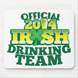 Official 2014 IRISH drinking team Mouse Pad