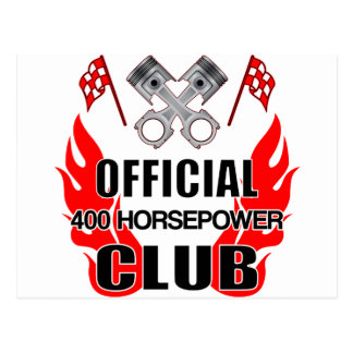 Official 400 HP Club Postcard