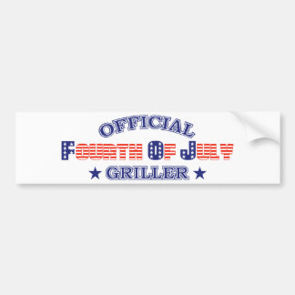 Official 4th Of July Griller Bumper Sticker