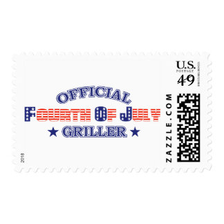 Official 4th Of July Griller Postage Stamp