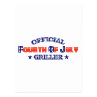 Official 4th Of July Griller Postcard