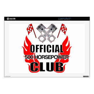 "Official 500 HP Club Decals For 17"" Laptops"