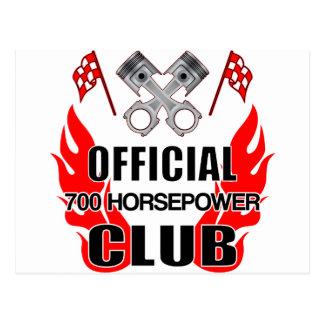 Official 700 HP Club Postcard