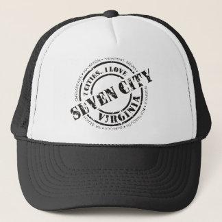 Official 7 City Stamp - Black Logo Trucker Hat