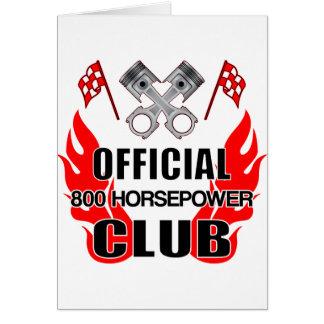 Official 800 HP Club Card