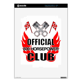 Official 800 HP Club iPad 2 Decals