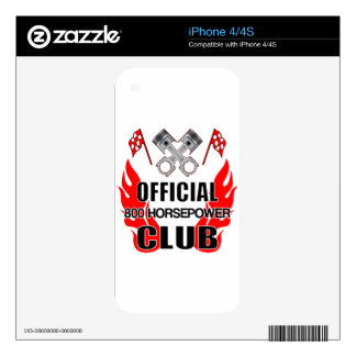 Official 800 HP Club Skin For iPhone 4