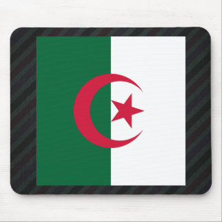 Official Algeria Flag on stripes Mouse Pad