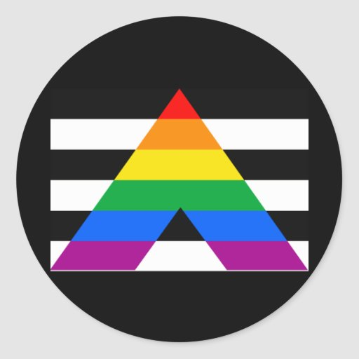 OFFICIAL ALLY FLAG CLASSIC ROUND STICKER