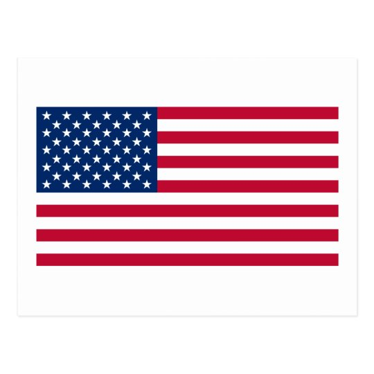 Official American Flag Postcard