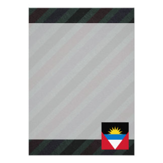 Official Antigua and Barbuda Flag on stripes Card