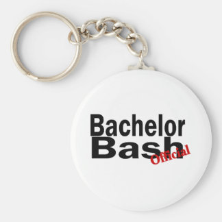 Official Bachelor Bash Basic Round Button Keychain