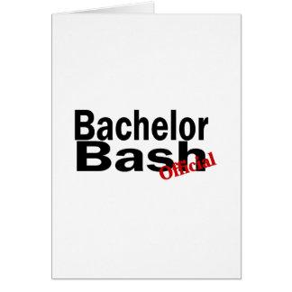 Official Bachelor Bash Card