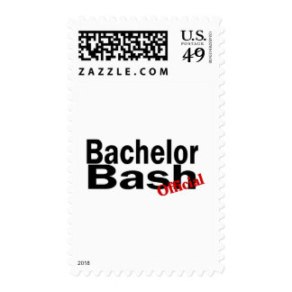 Official Bachelor Bash Postage Stamp
