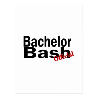 Official Bachelor Bash Postcard