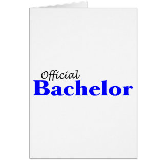 Official Bachelor Card