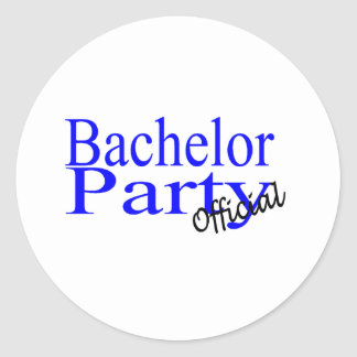 Official Bachelor Party Classic Round Sticker