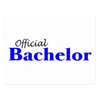Official Bachelor Postcard