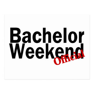Official Bachelor Weekend Postcard